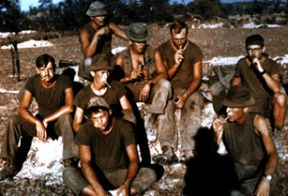 Group of men in the Republic of South Vietnam- 1970