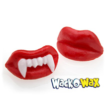 Wack-o-wax lips fangs mustache