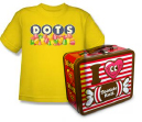 DOTS t-shirt and retro Tootsie Roll lunchbox